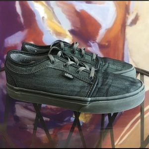 VANS PRO- CHARCOAL DENIM YOUTH SZ 4